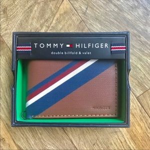 New Tommy Hilfiger Men's Tan Leather Wallet